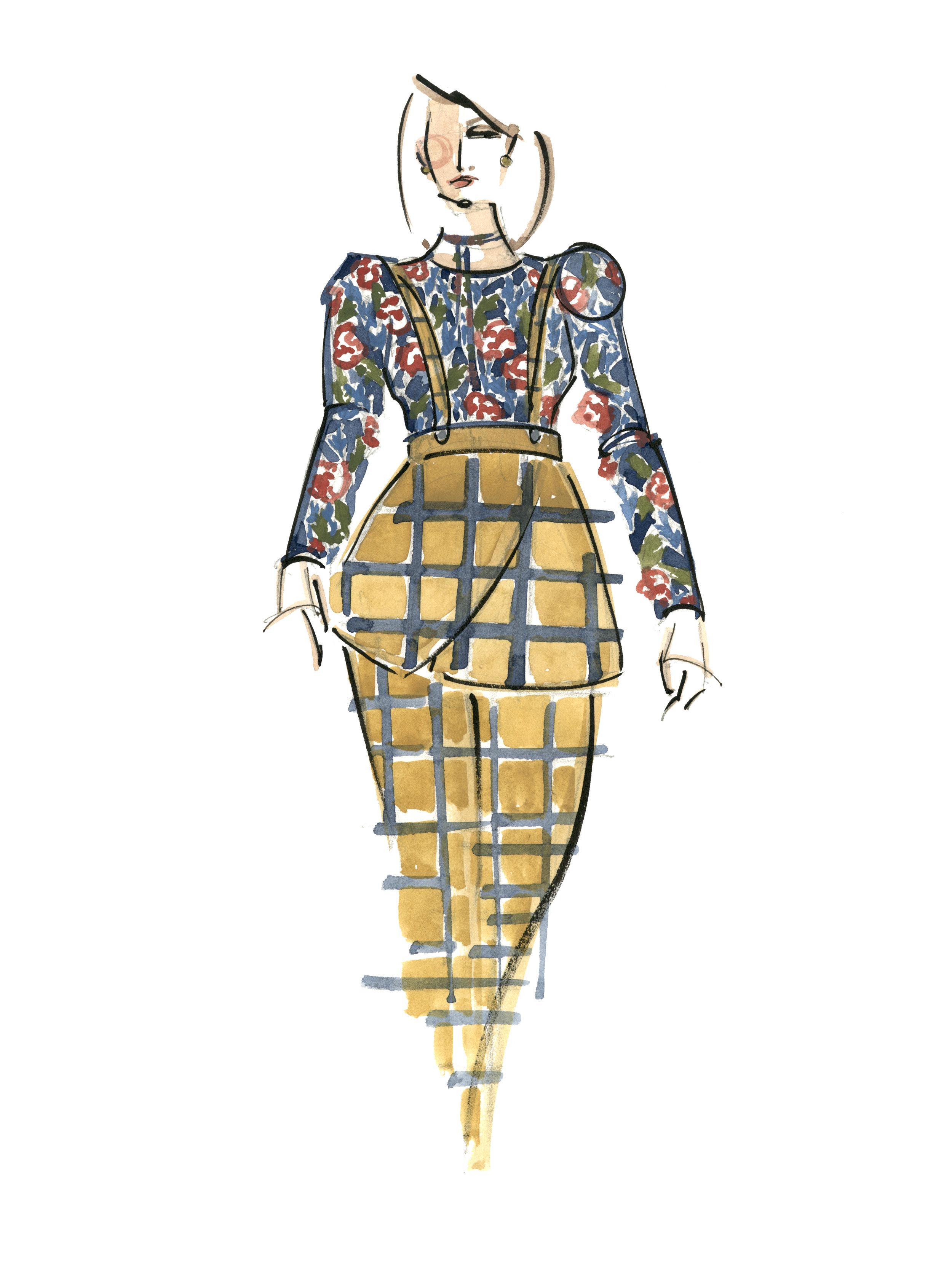 Victoria-Riza Fashion Illustrator | Designer Ayana Ife | Utah Fashion Week