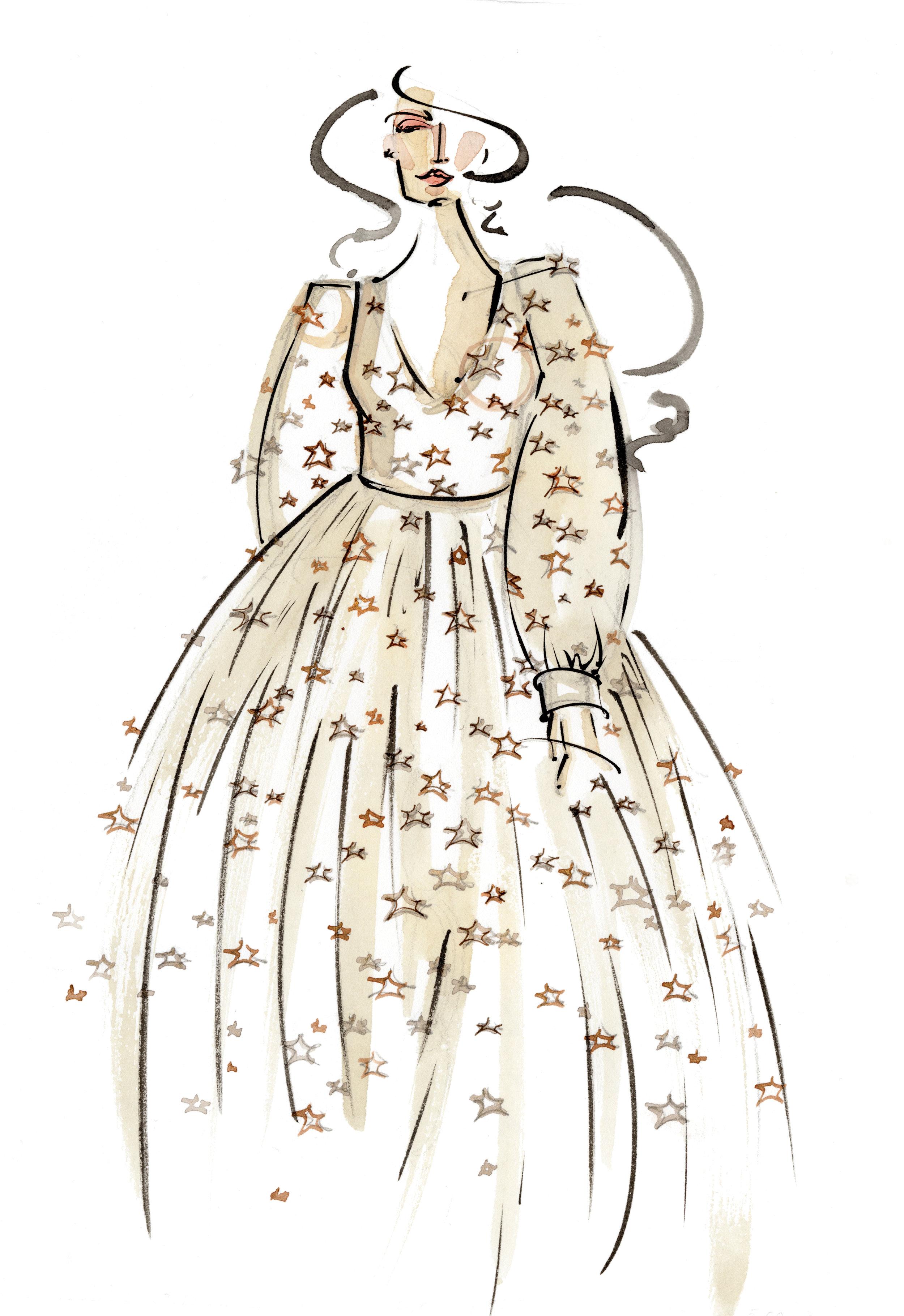 Victoria-Riza Fashion Illustrator | Designer Natalie Wynn | Utah Fashion Week