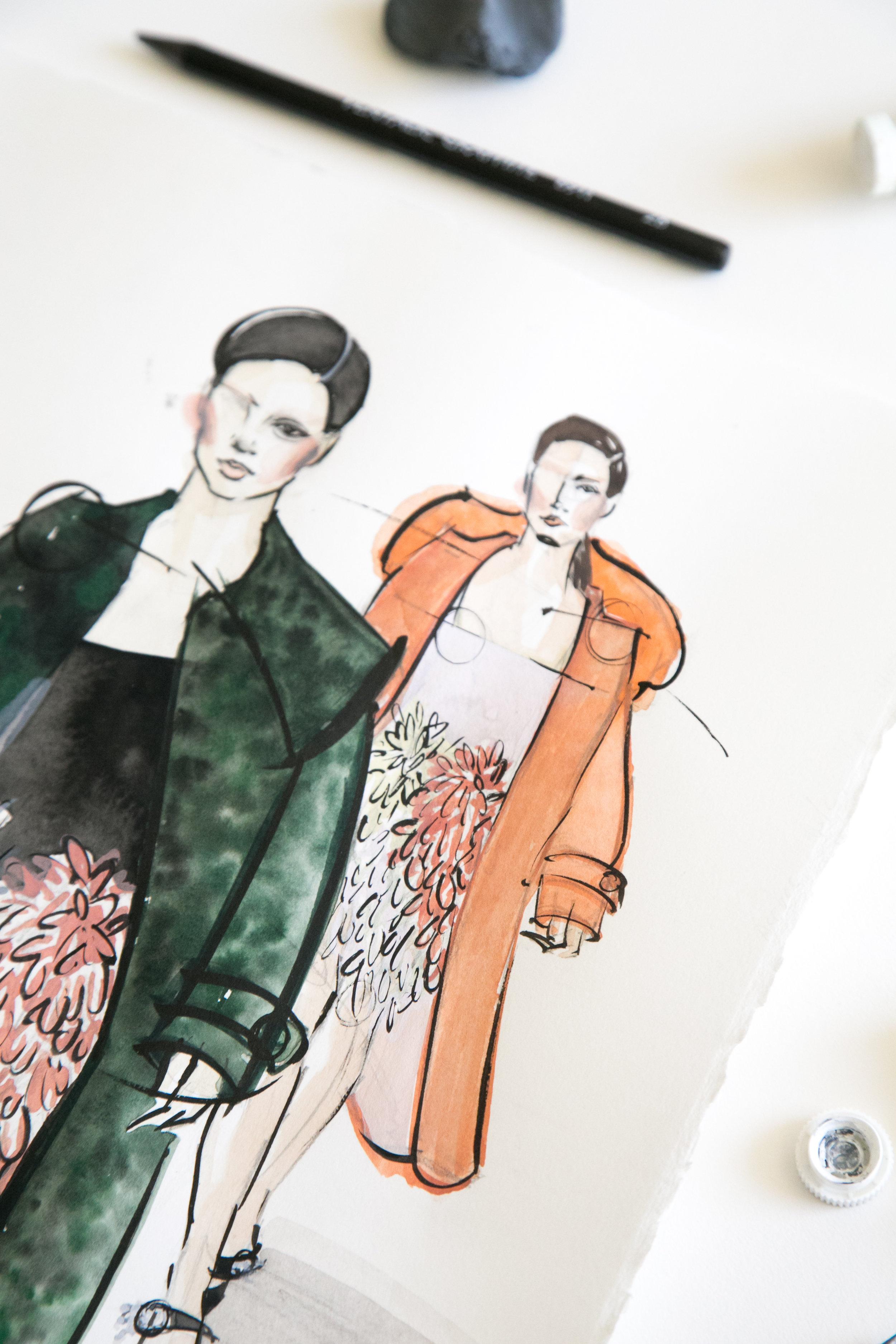 Victoria-Riza Fashion Illustrator   Miu Miu Fall 2017 RTW