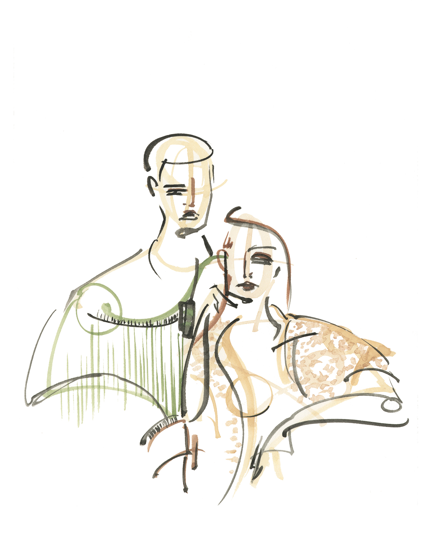 Victoria-Riza Fashion Illustrator | Live Fashion Illustration for Kuya Brand