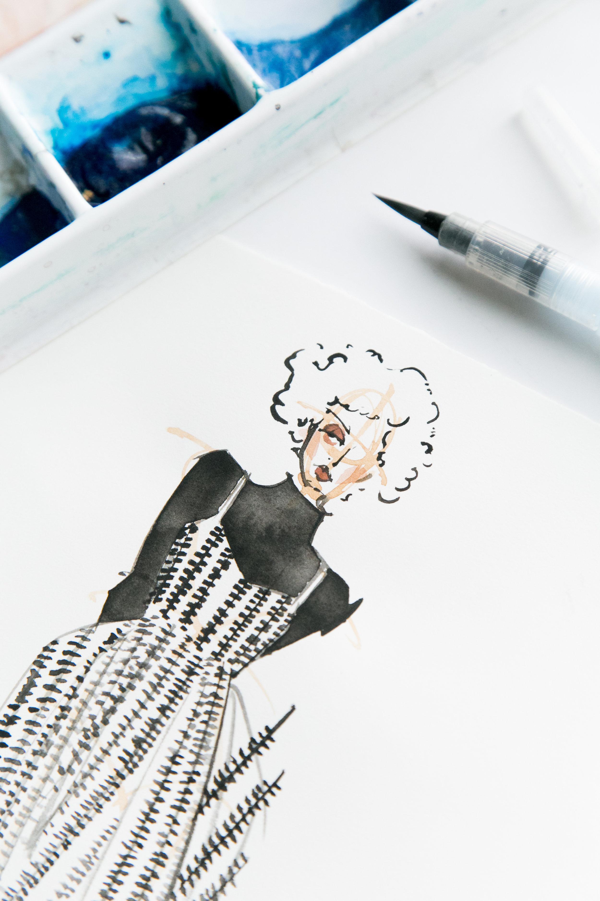 Victoria-Riza Fashion Illustrator   Lemiem Fall 2017 RTW