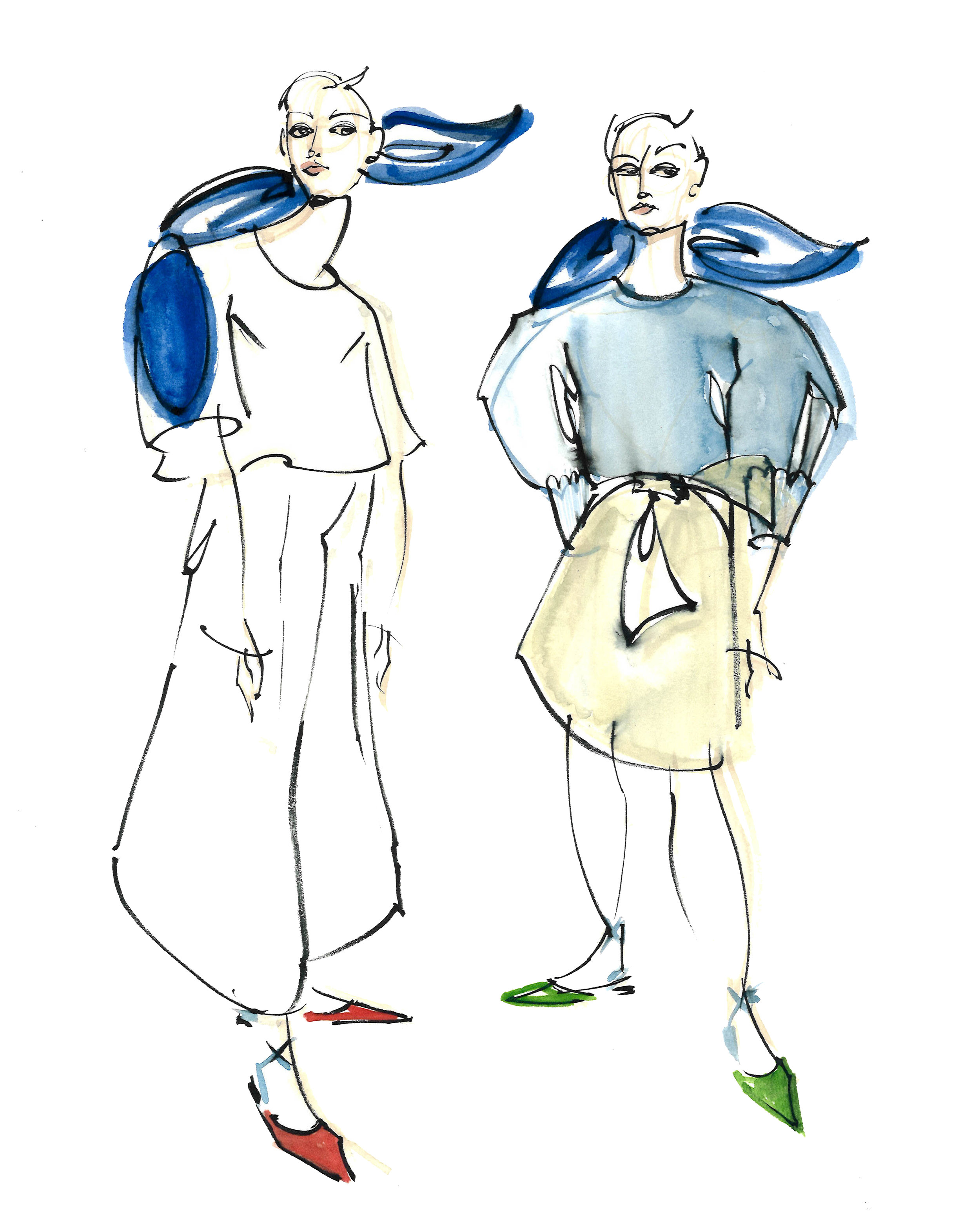 Victoria-Riza Fashion Illustrator | Delpozo Resort 2018