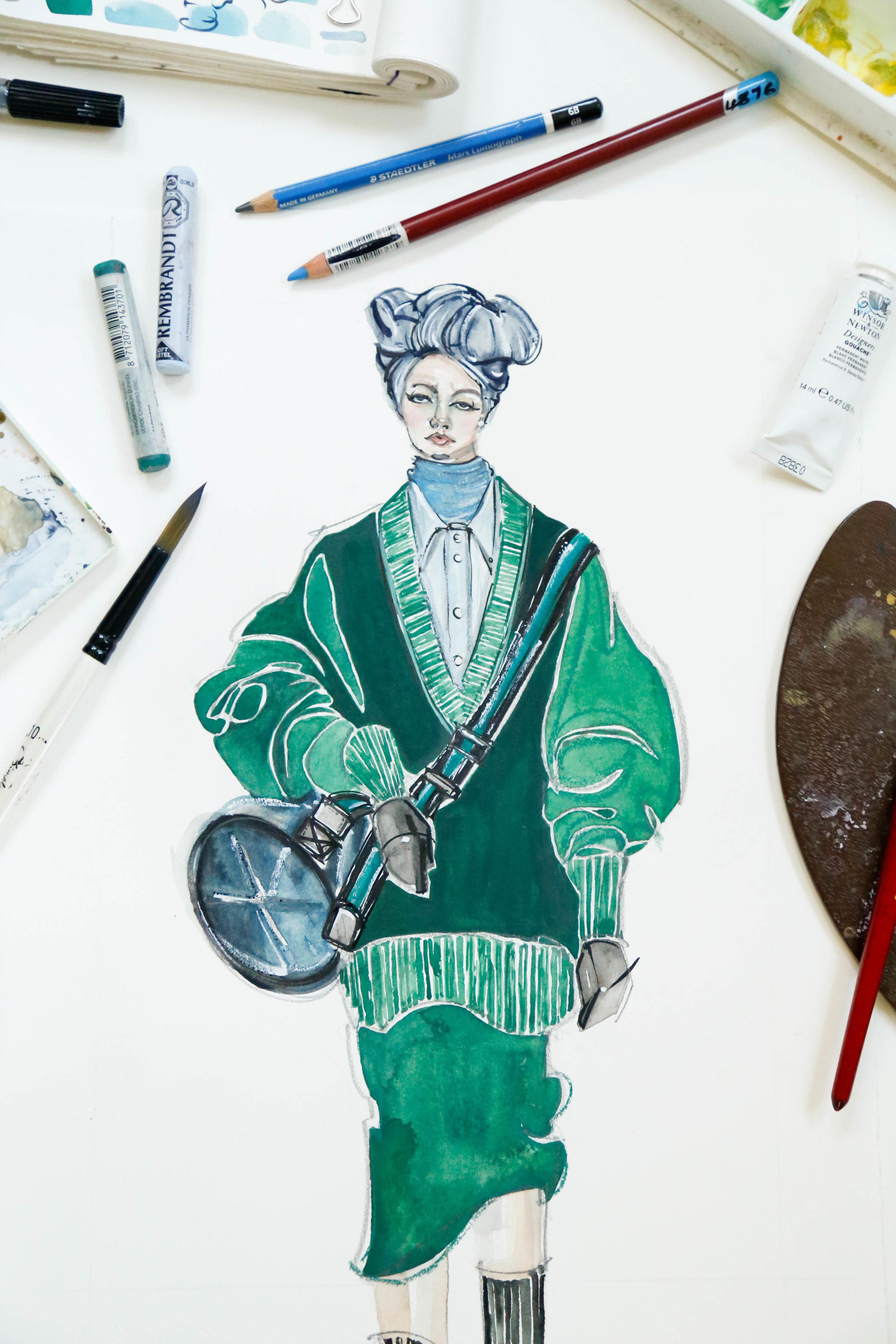 Victoria-Riza Fashion Illustrator |Marc Jacobs Spring 2018 RTW