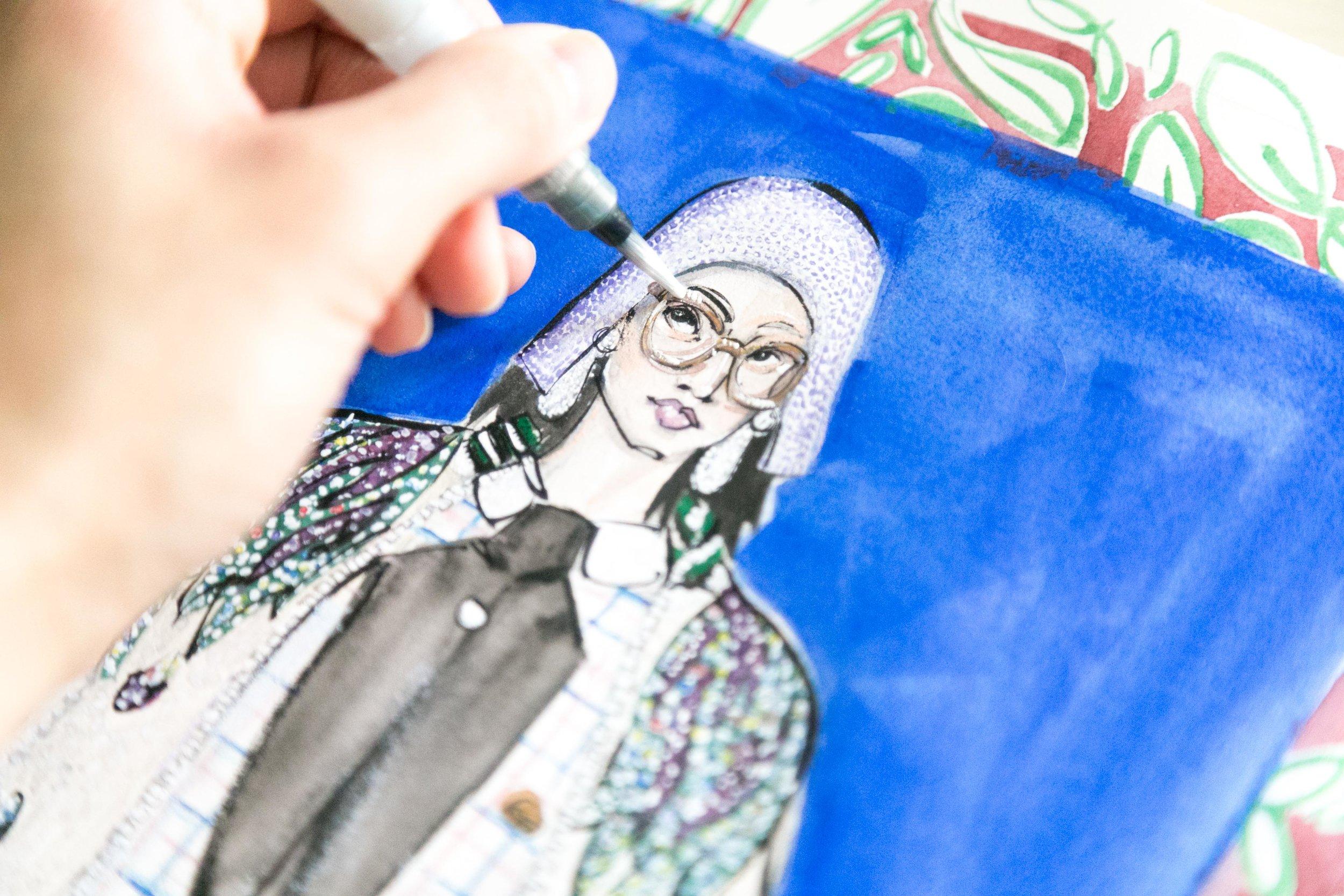 Victoria-Riza Fashion Illustrator | Gucci Spring 2018 RTW