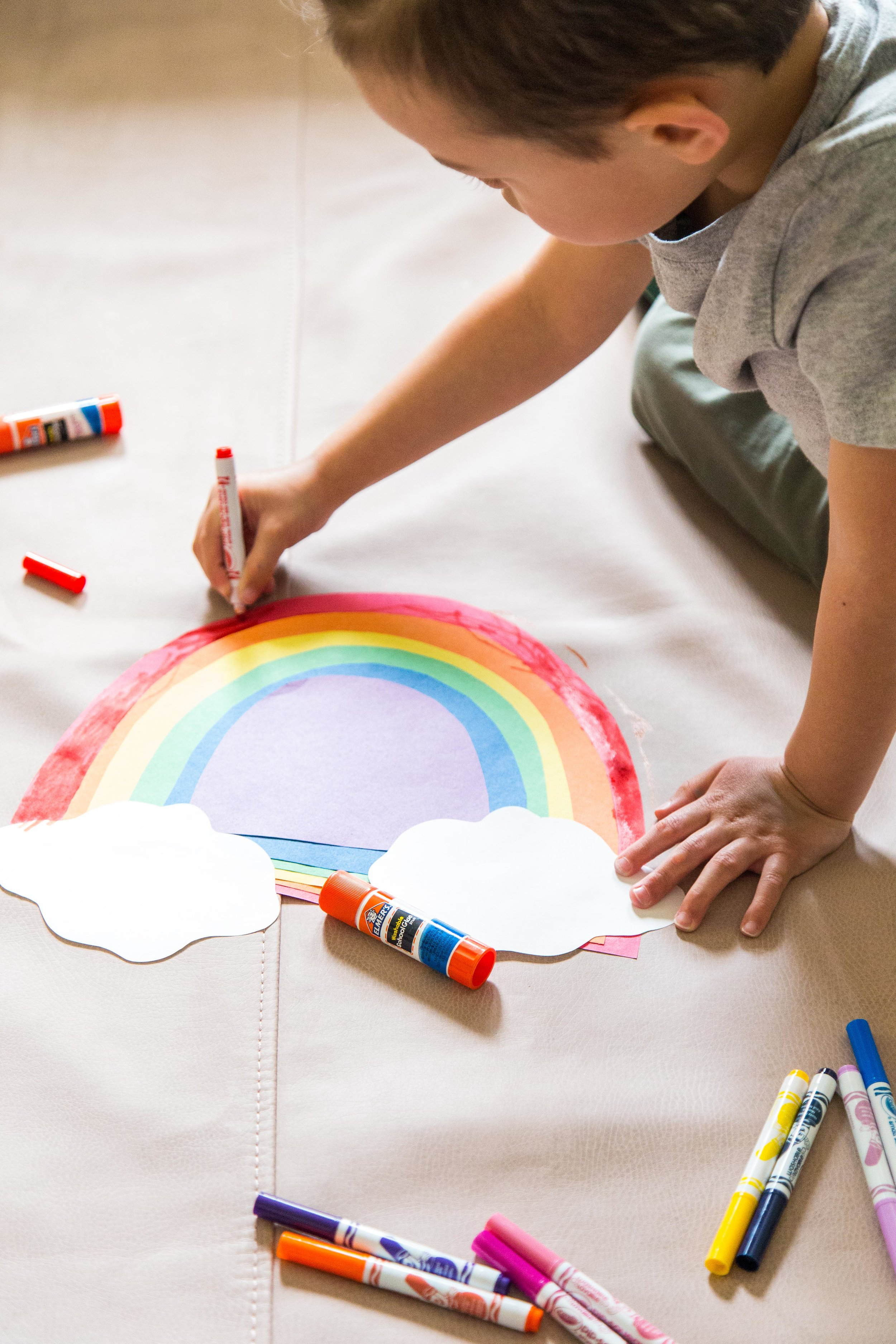Victoria-Riza | Mommy + Me Art | Rainbow Craft for National Find a Rainbow Day