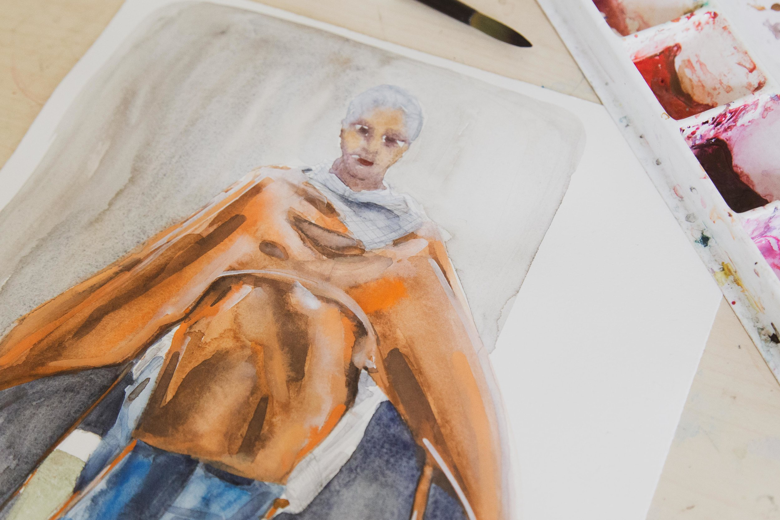 Victoria-Riza Fashion Artist Illustrator and Printmaker | Deveaux Fall 2019 RTW