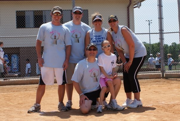 Then we got our baseballism on ( is that a word??) to help raise money for other children as well!