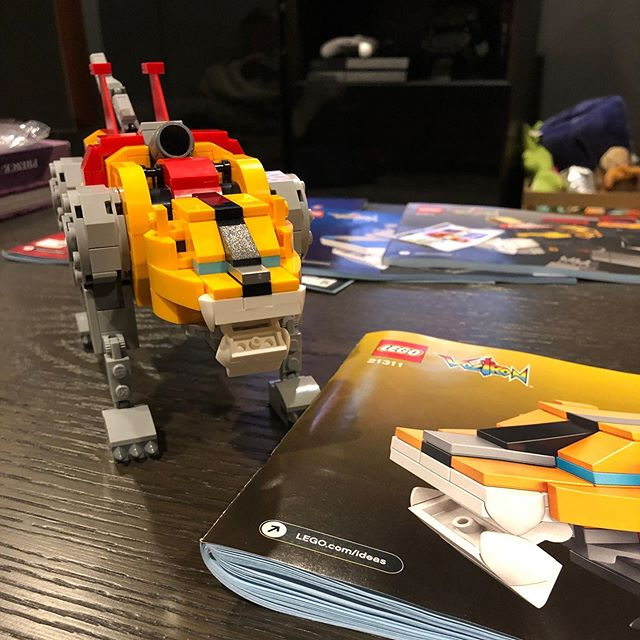 First one down, four more to go. #lego #voltron