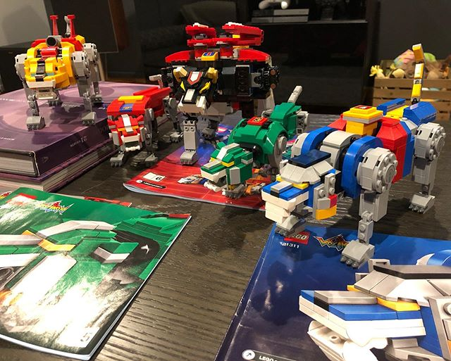 And five. Now for the big guy. #lego #voltron