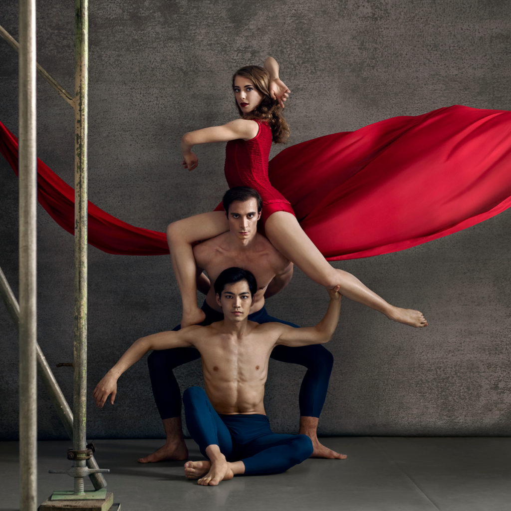Dancers: Caroline Wiley, Fabio Lo Giudice, Kihiro Kusukami. Photo Credit: Ross Brown