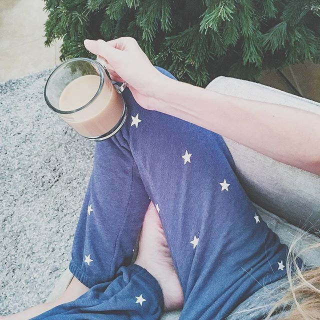 It's noon...I've successfully gotten out of my pj's...but just now getting to drink my coffee... #momlife #firsttimemom #mybabyonlysleepsonme #maternityleavelife #tothefullestblog #wildfoxcouture