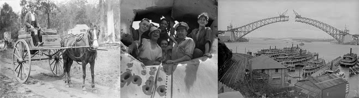 Three images that tell a story, but whose story and what might it have to do with today?