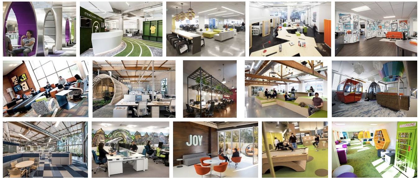 Search for Innovative Office Spaces on Google and this is what you find.