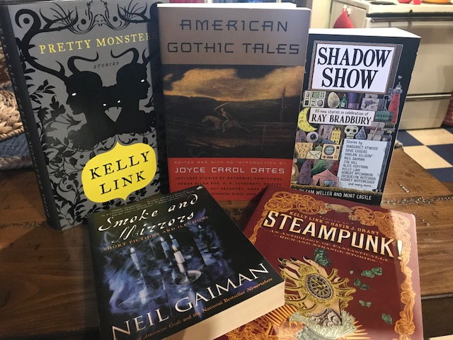 A little steampunk, some gothic tales, a tribute to Ray Bradbury, assortments from Kelly Link and Neil Gaiman — here are some go-to anthologies and short-story collections.