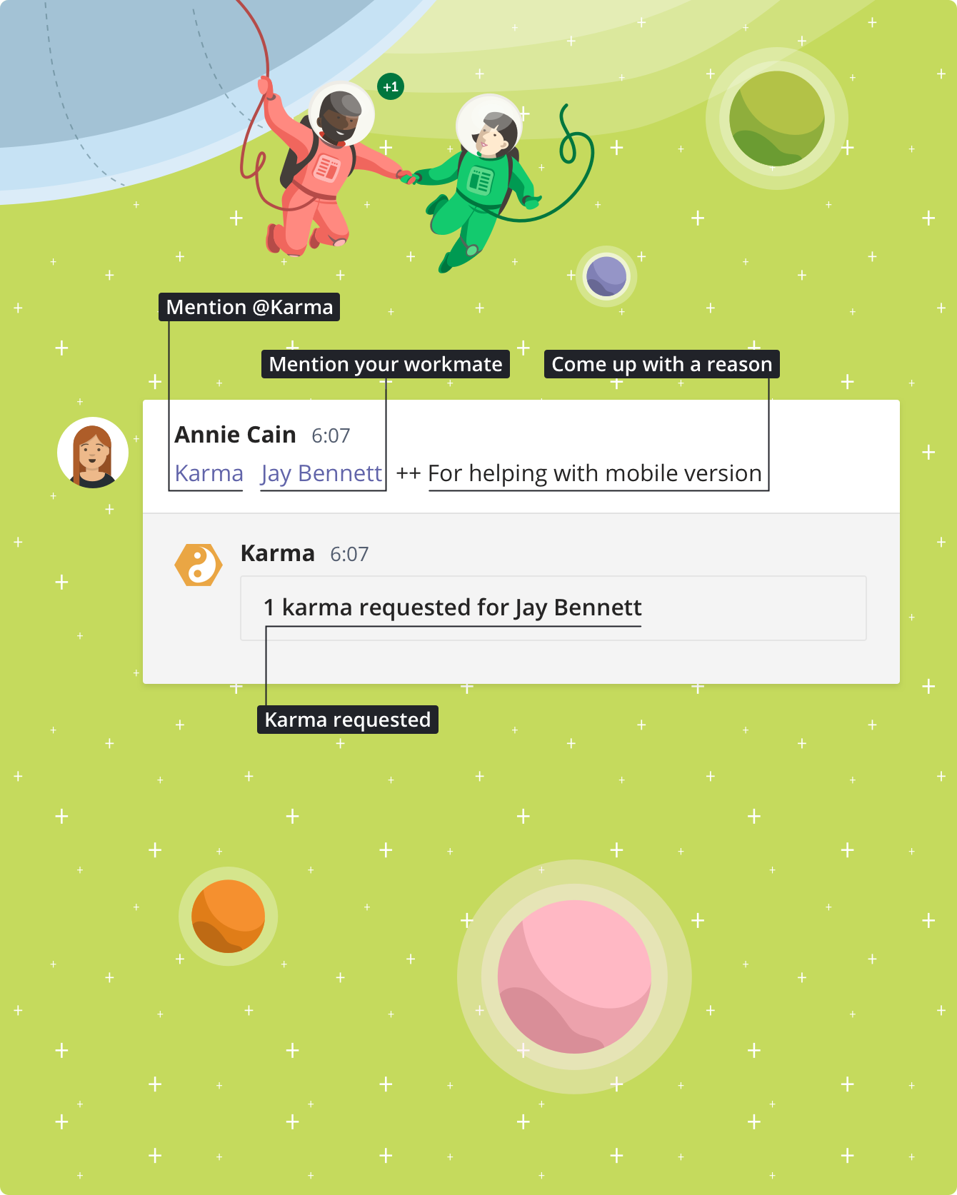 Karma bot for Microsoft Teams — Sliday