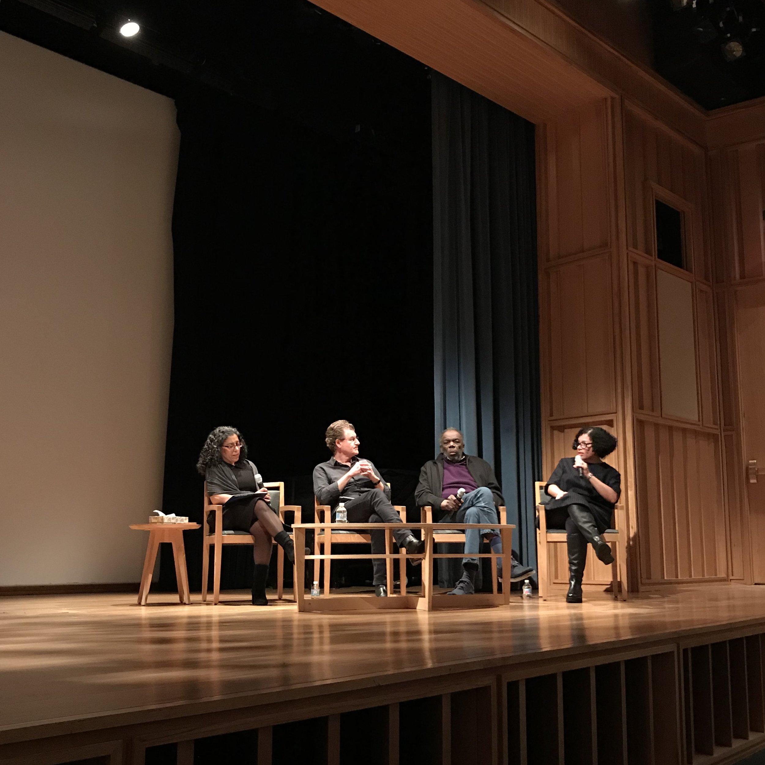 E. Carmen Ramos, Alfredo Jaar, Sam Gilliam, and Lava Thomas