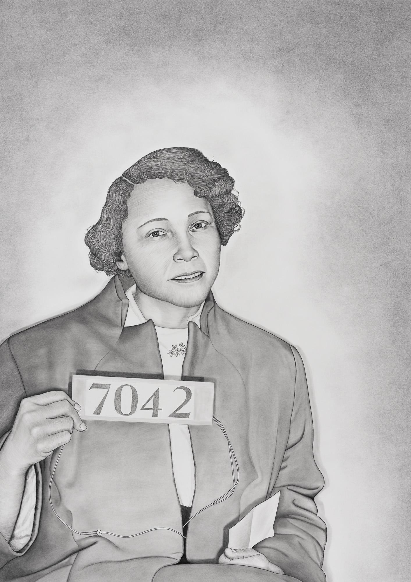 Jo Ann Robinson,  2018 Graphite and conté pencil on paper 33 1/4 x 47 in.