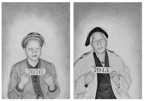 (Left)  Euretta F. Adair , 2018 (Right)  Mrs. A. W. West, Senior , 2018.