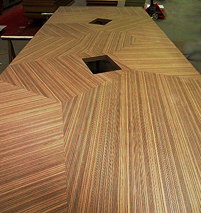 Custom veneer table