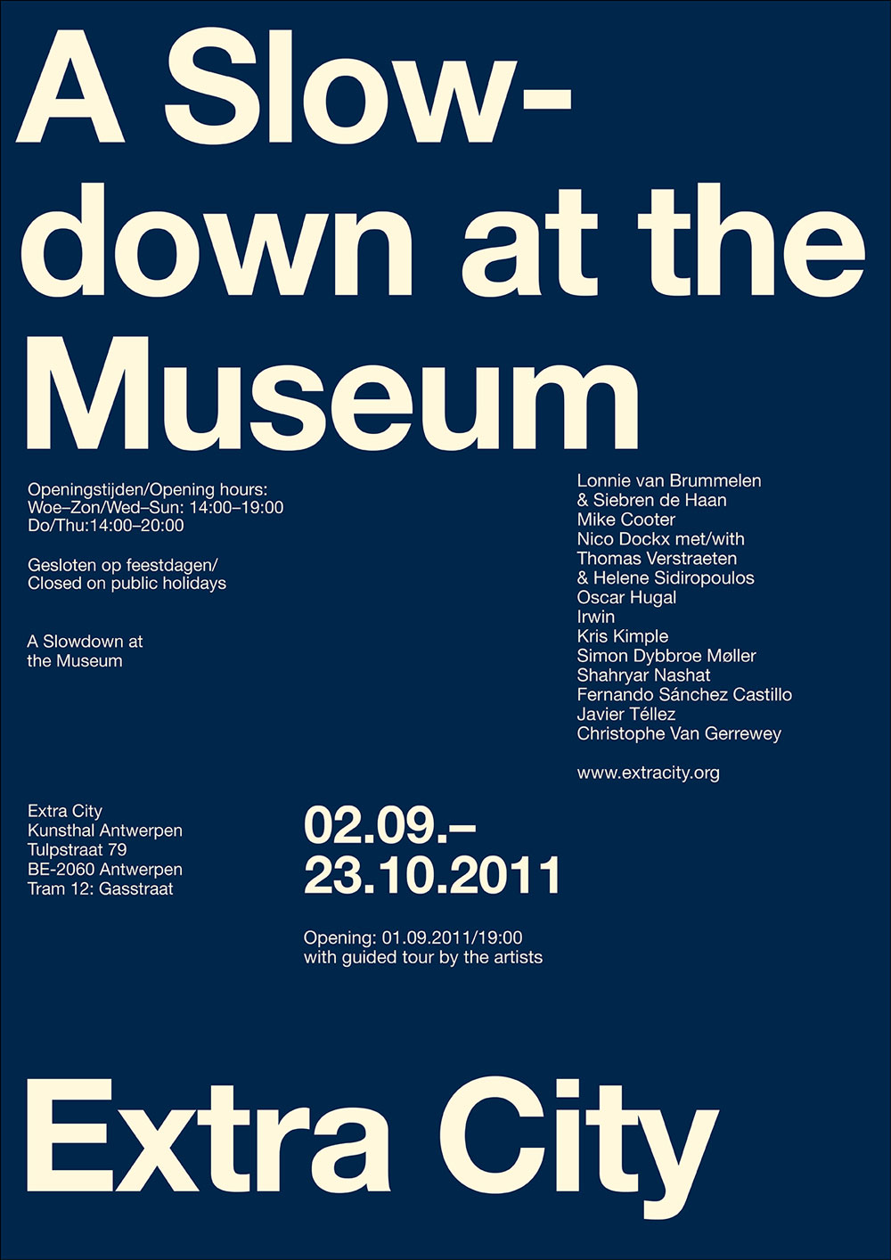 Exhibition poster design.