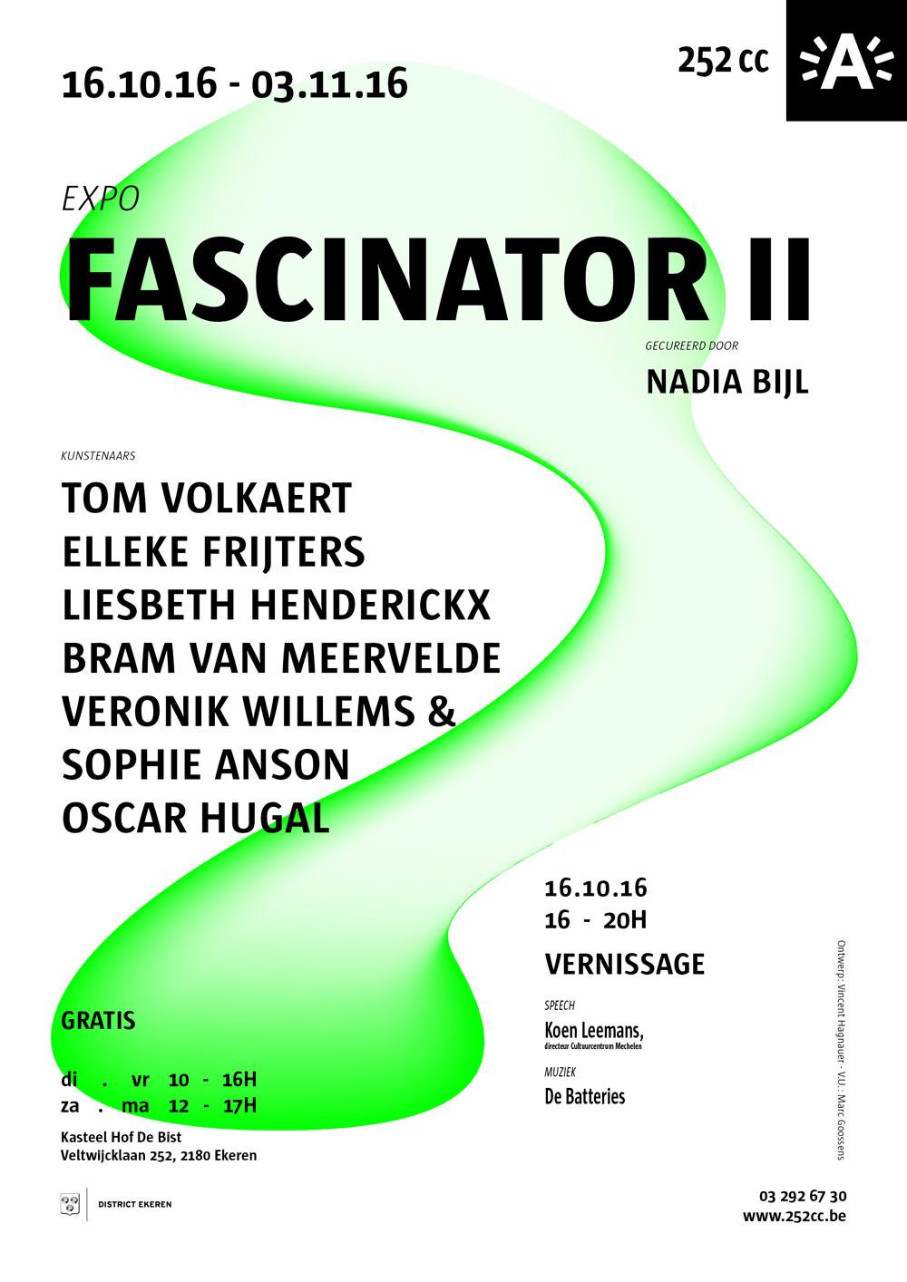 Exhibition invitation design.