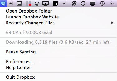 Dropbox deep directory handling problem.