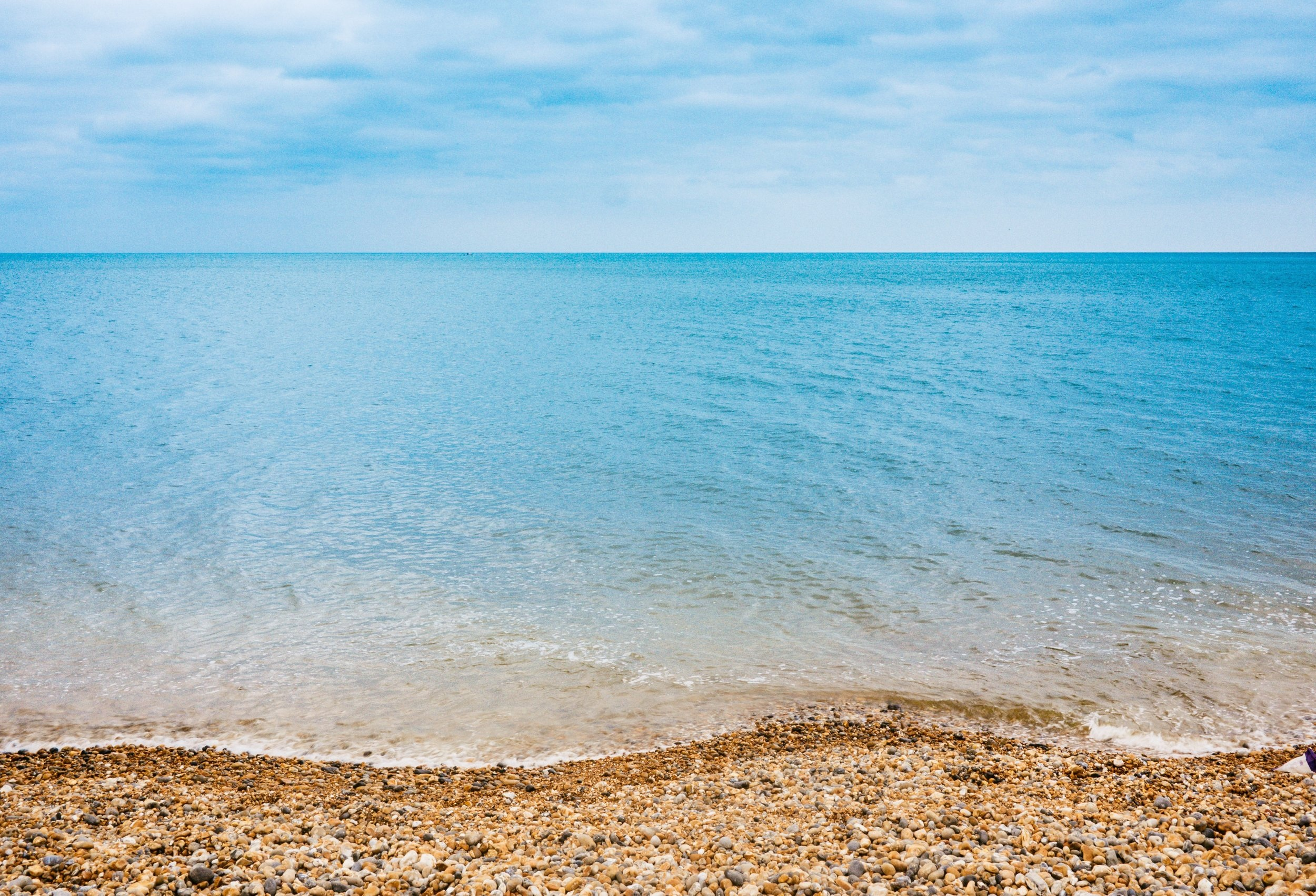 The view from our beach front studio……  Photo of Brighton Beach above by  Jamie Street  on  Unsplash .
