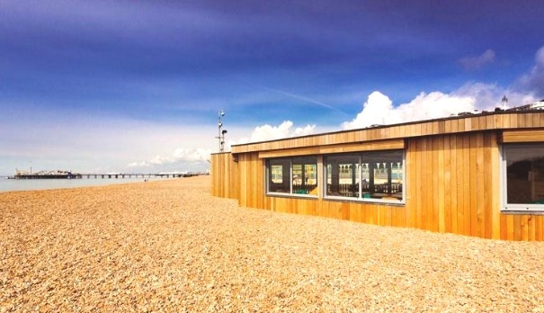 Your Studio space for the day- nothing between you and the sea!
