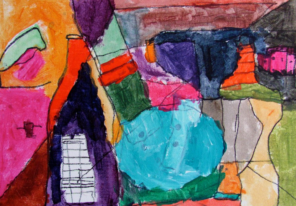 Second Grade Cubist Still Life