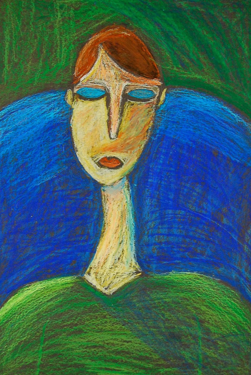 Modigliani-Inspired Self-Portrait