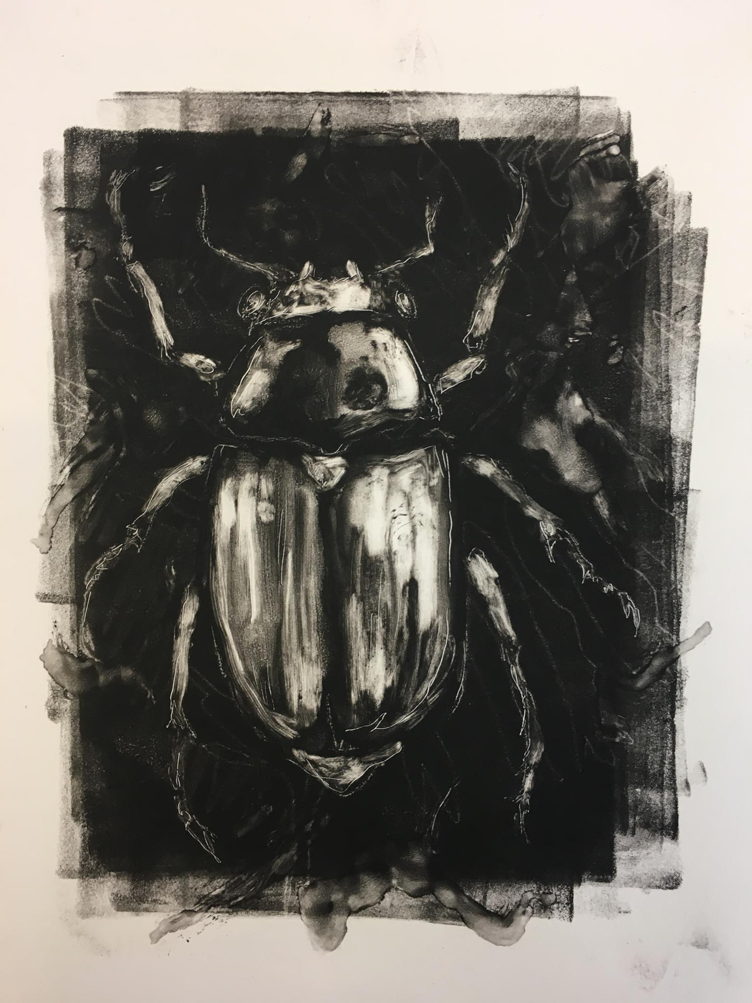Scarab, monotype, 2018