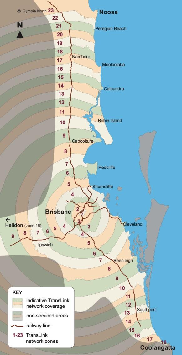 Brisbane City Council Transport Zones