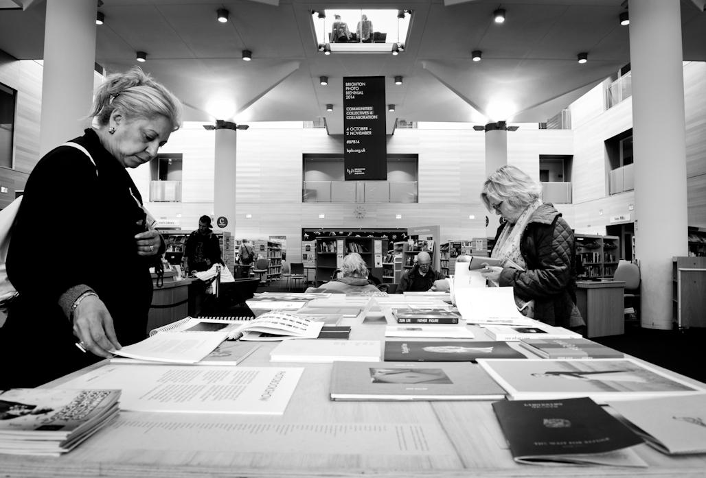 Photobooks on display @ Brighton Jubilee Library.