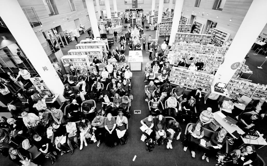 Audience, Brighton Jubilee Library, Brighton Photography Biennial 2014.