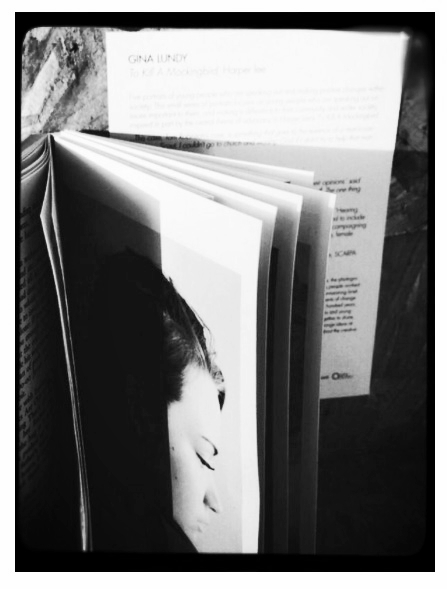 Prints installed within library books ©Arpita Shah 2014