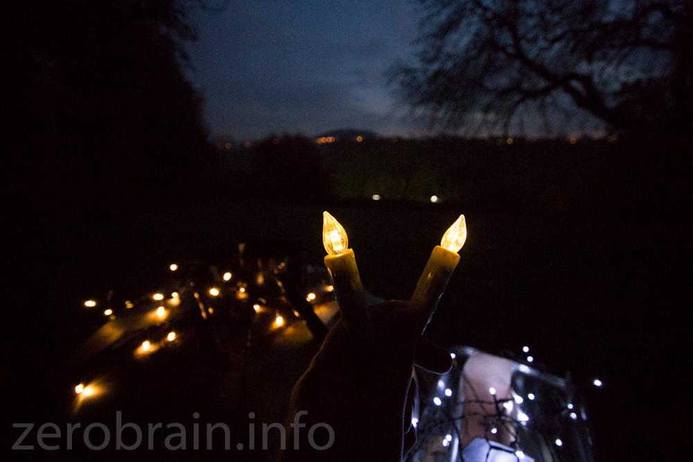 Helligkeitsvergleich: Koopower Garten Licht vs Canle Light