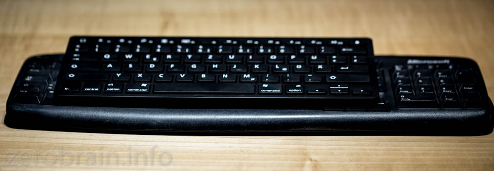 Grössenvergleich zur Standard MS Tastatur