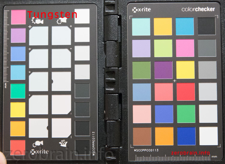 """Color Test Chart """"Standard Glühbirne"""" (Weißabgleich ca. 2700K)"""