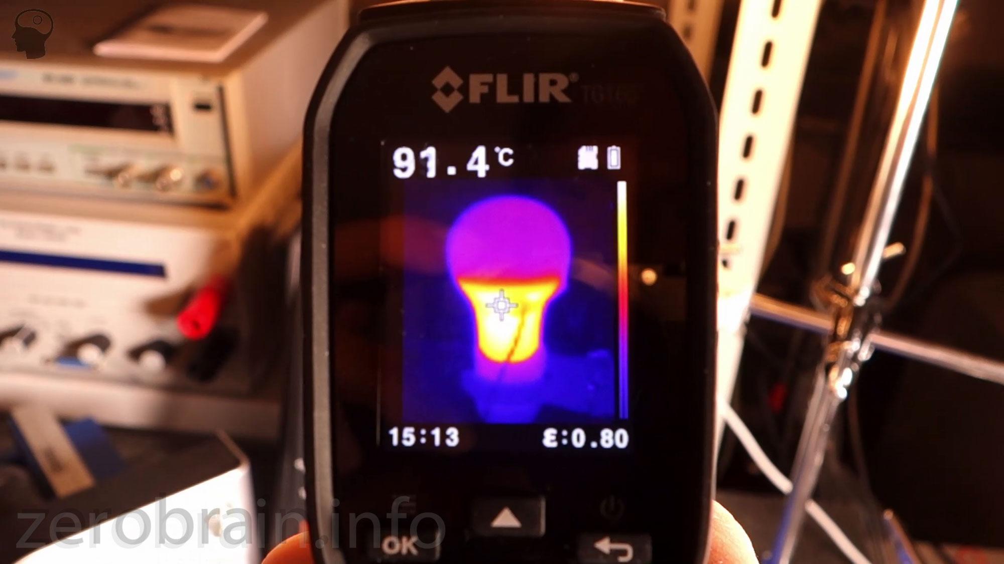 Lumira E27 LED - Wärmebild nach 30 MinutEN