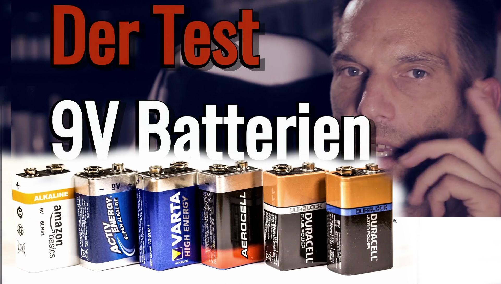 Einer der aufwändigsten Tests: 9V Batterien