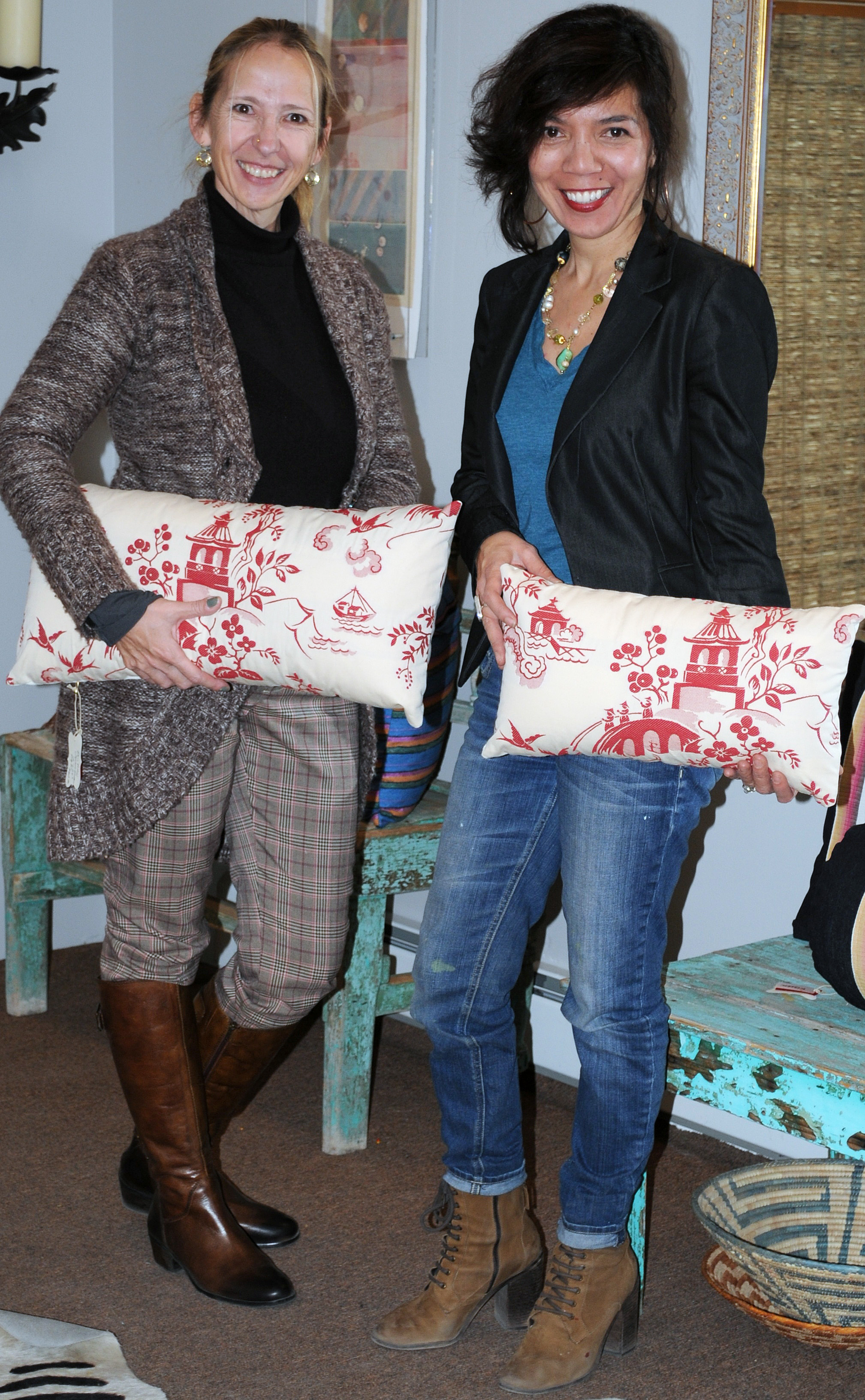 "Ande Hambuchen and Jennifer Ashton, ""Kissen""  Pillow Play in Santa Fe - An interior & fashion design collaboration"