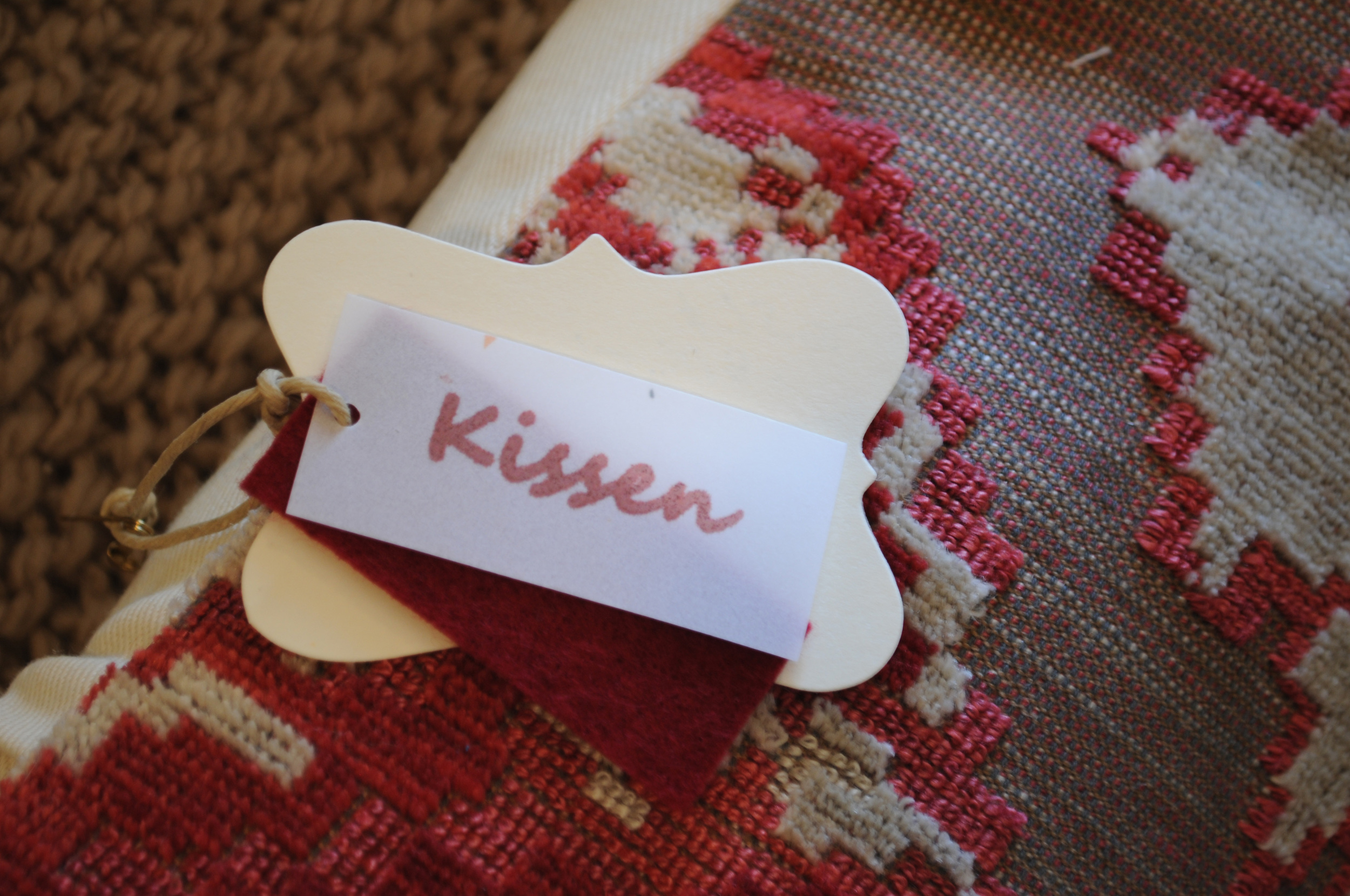 "Kissen logo, ""Kissen""  Pillow Play in Santa Fe - An interior & fashion design collaboration"