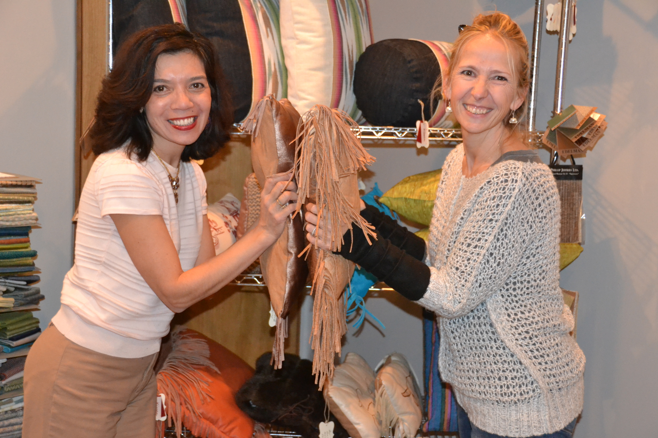 "Jennifer Ashton, Ande Hambuchen, ""Kissen""  Pillow Play in Santa Fe - An interior & fashion design collaboration"