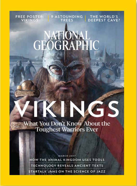 National Geographic  magazine, March 2017. Reproduced with permission.  Art by Fernando G. Baptista.