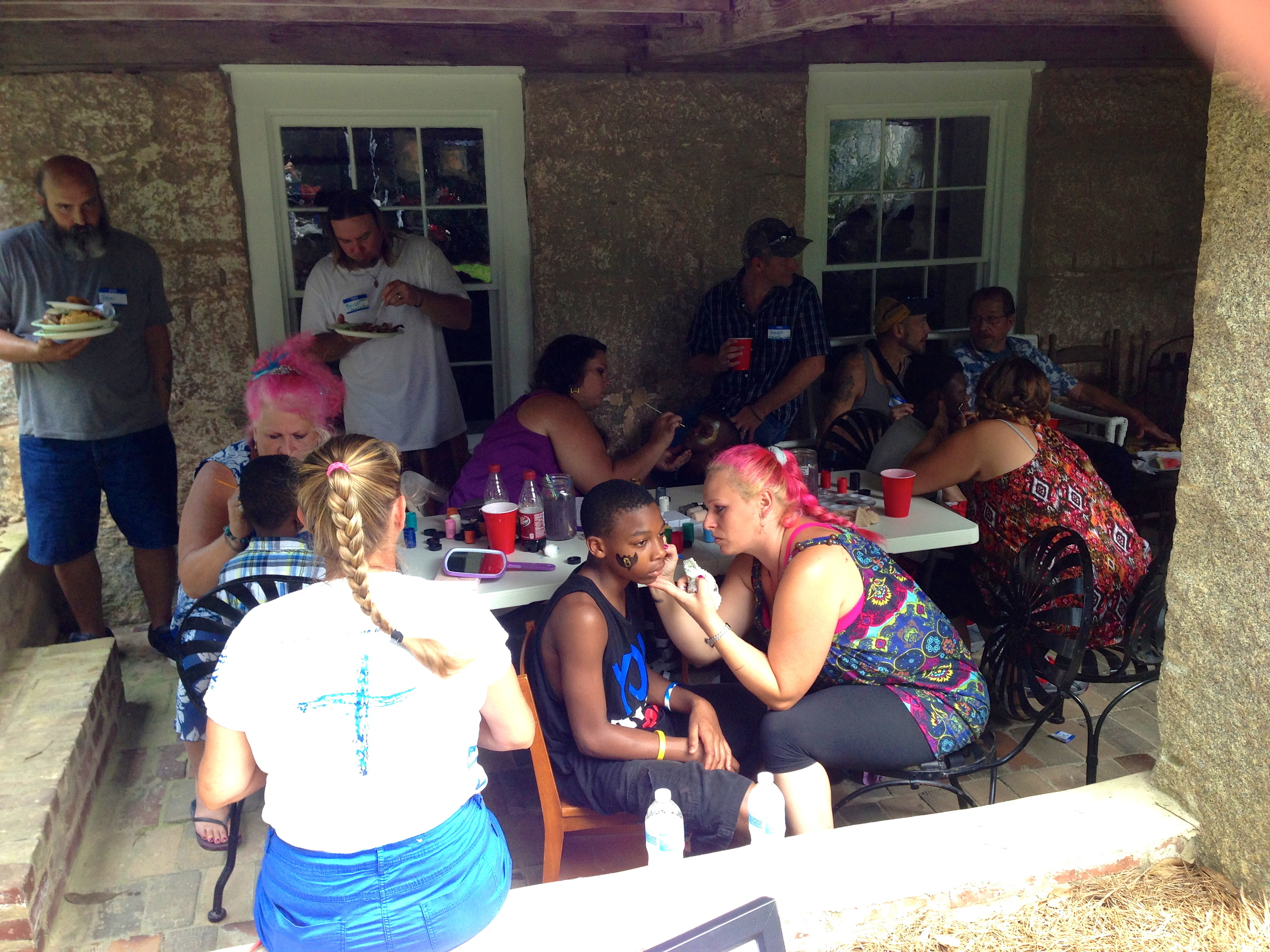 The Oasis Family Farm folks worked long and hard to accommodate all children who wanted to have their faces painted.