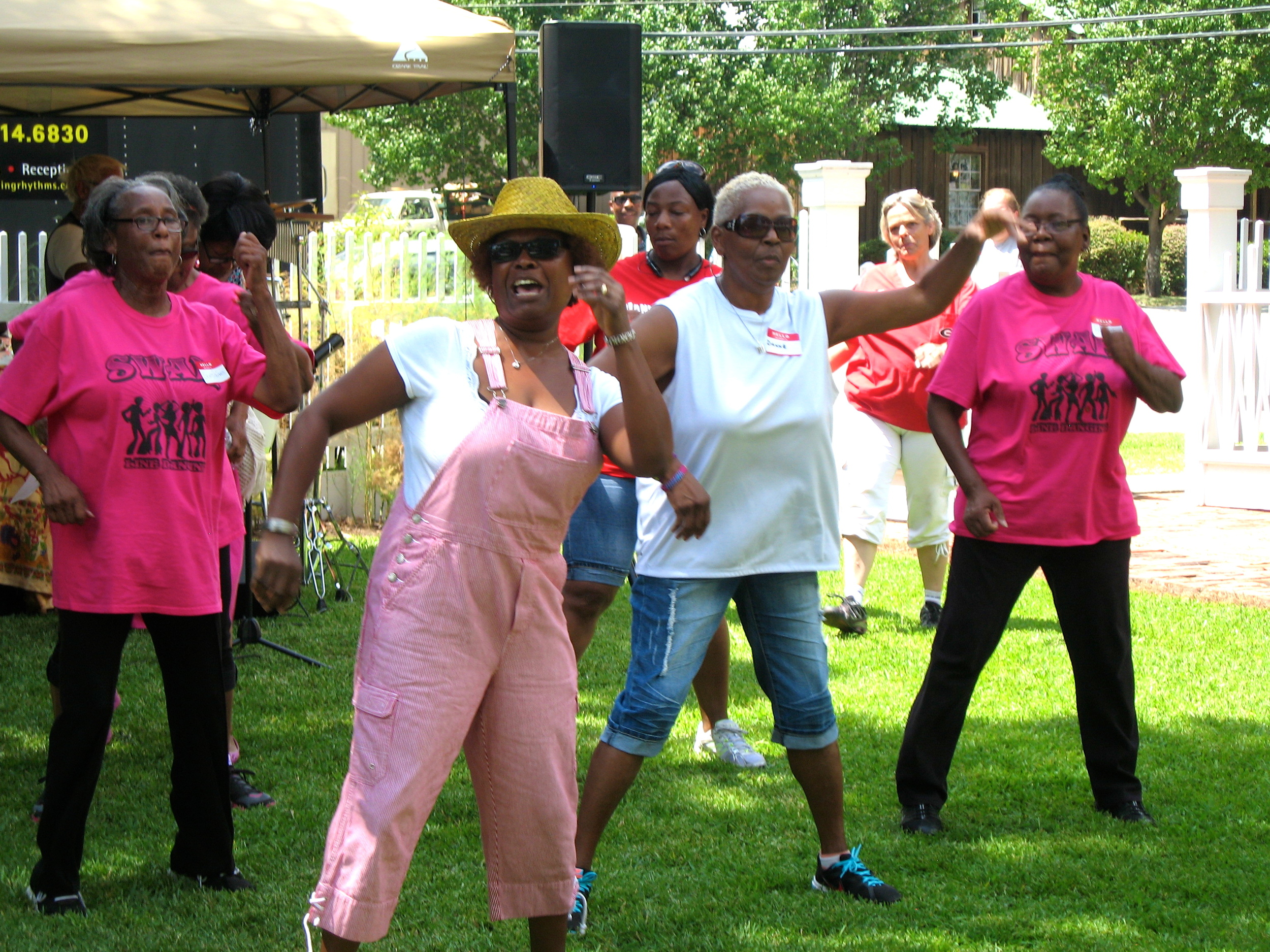 SWAH Fitness Dance Group did some mighty fine line dancing.