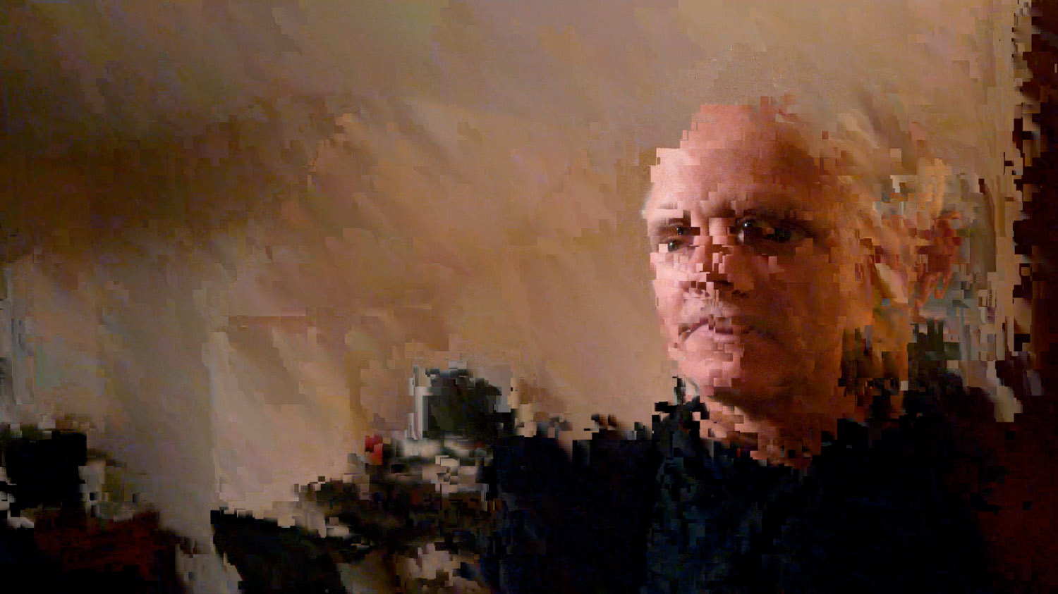 Self Portrait of Larry Watson (Larz of Larzfoto) Pixelated.