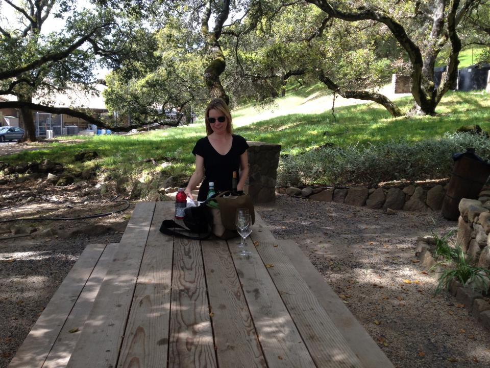 Picnic at Matanzas Creek Winery, Santa Rosa, CA  photo by Jeff McDonald