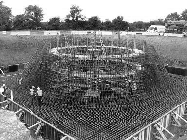 Construction of a contemporary water tower