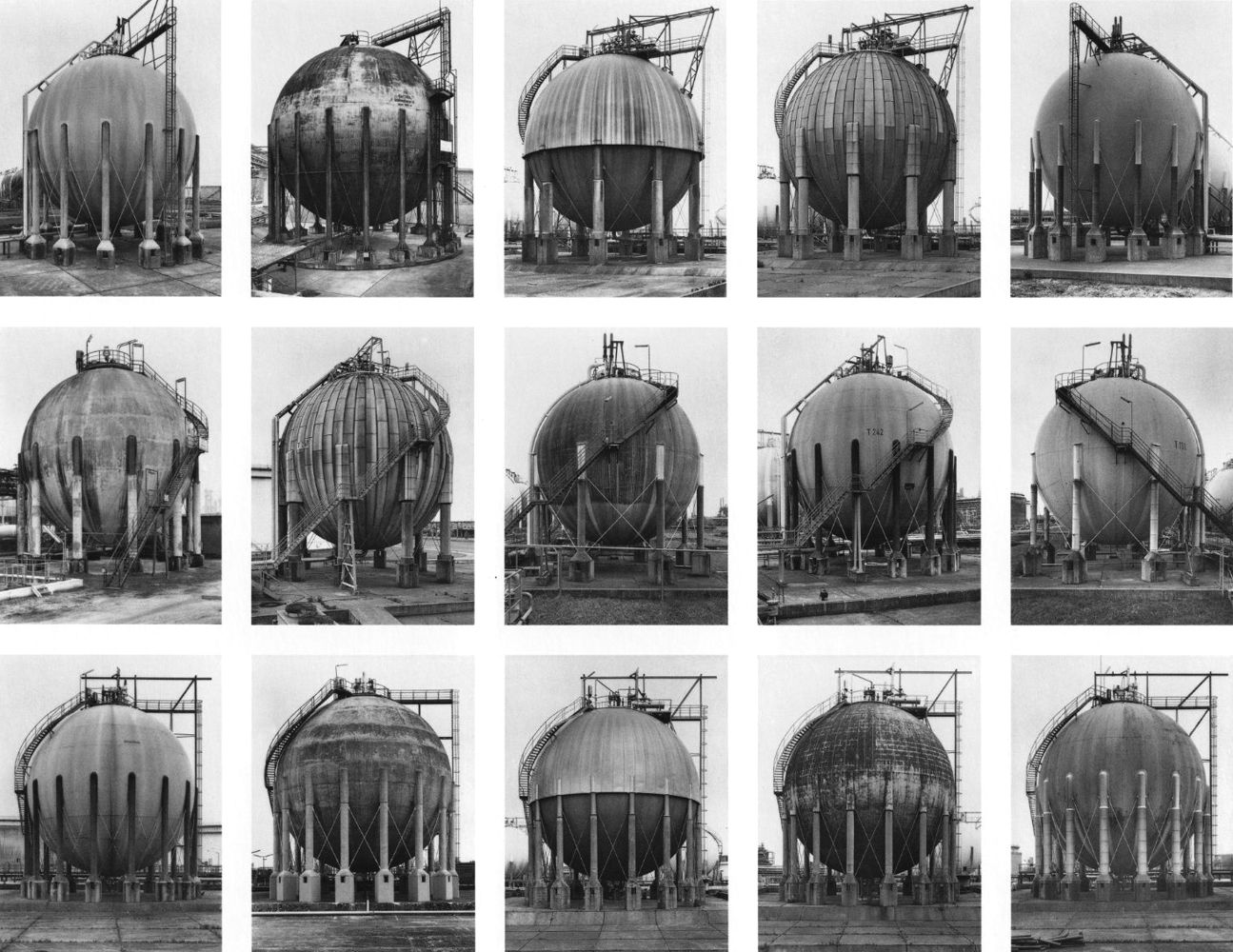Anonyme Skulpturen: Eine Typologie technischer Bauten and Typologien, Industrieller Bau, 1963–1975 by Bernd and Hilla Becher